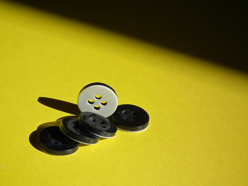 Buttons, Shadow, Yellow, Black, White, Little