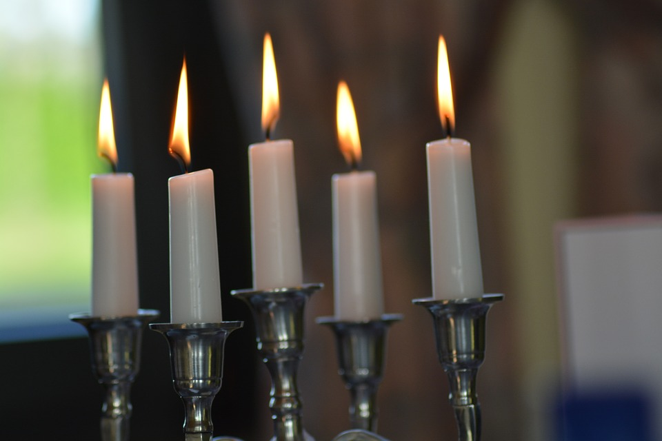 Candles, Candlestick, Fire, Flame, White, Silver