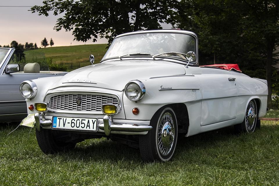 Car, Veteran, White Car