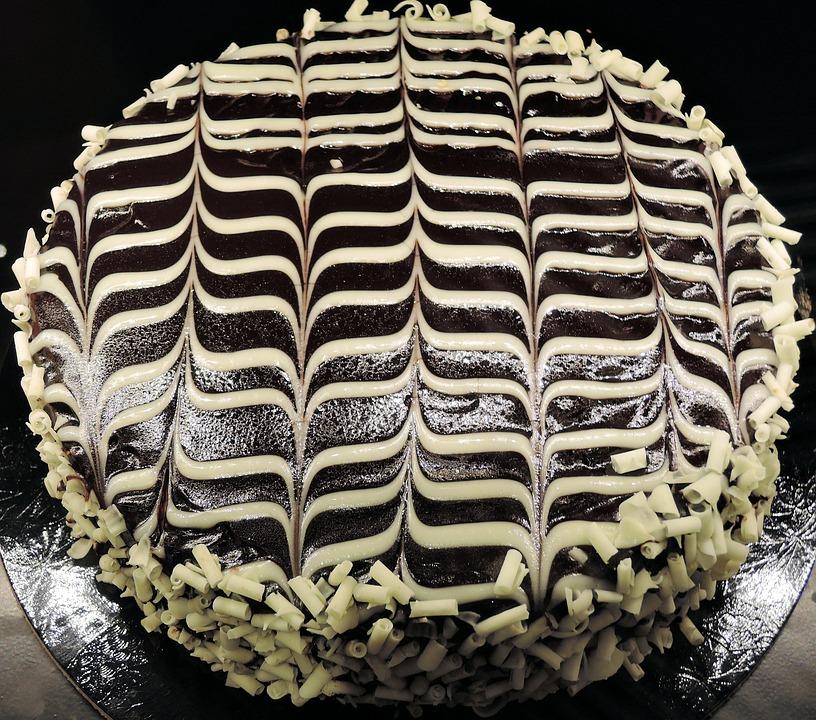 Chocolate Cake, Ganache, White Chocolate, Sweet, Food