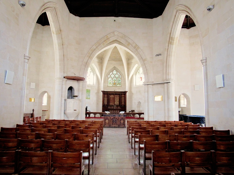 Church, Jew, Jerusalem, Arches, White, Aisle, Jews