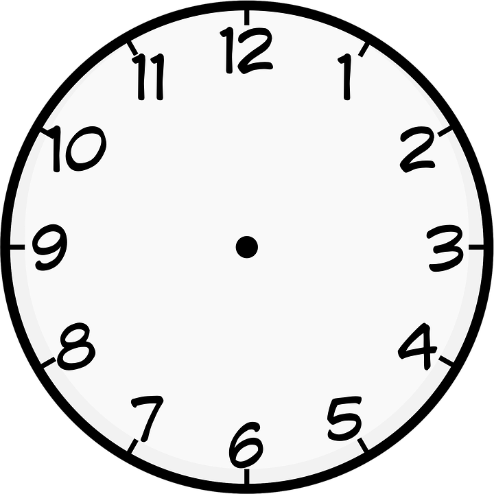 Clock, Analog, Face, White, Template