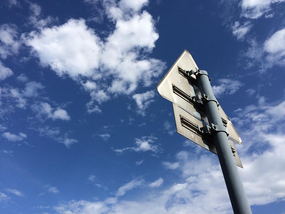 Blue Sky, White Cloud, Signs
