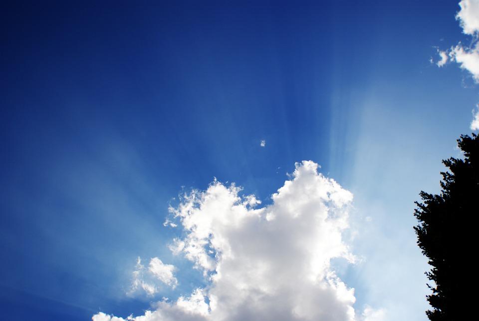 Sky, Cloud, Sun, Radius, Blue, Contrast, Cloudy, White
