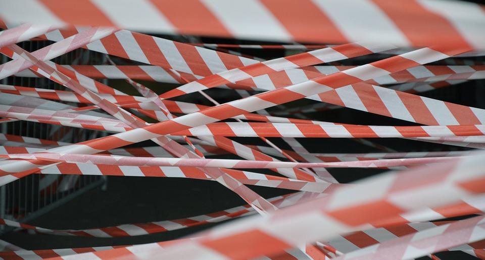 Tape, Warning, Red, White, Barrier, Designation, Danger