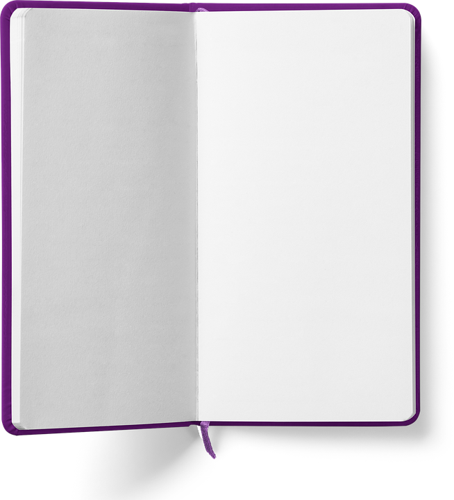 Book, Isolated, Open Book, Empty, Paper, Pink, White