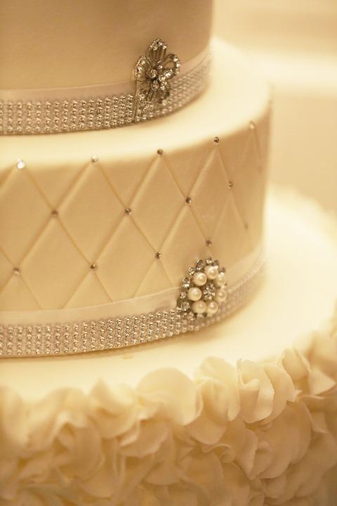 Free photo White Fancy Decoration Wedding-cake Cake - Max Pixel