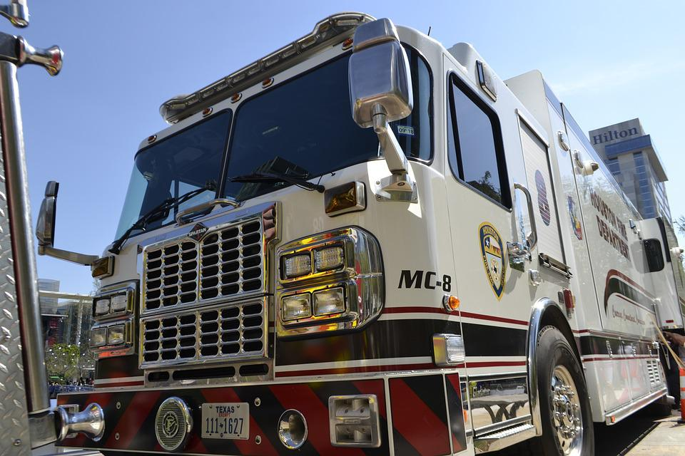 Houston Fire Department, Fire Truck, White Fire Truck