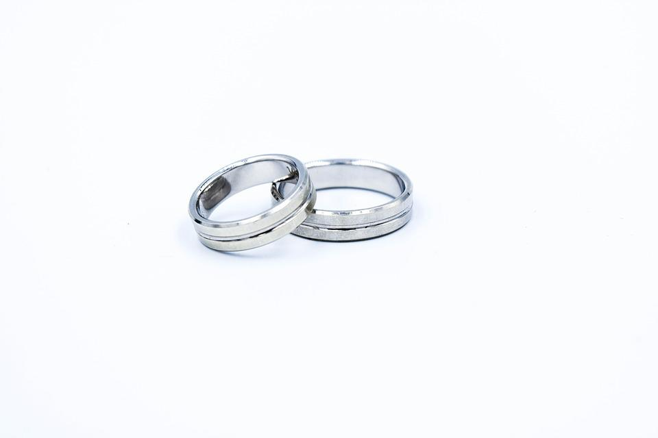 Wedding Rings, White Gold, Jewelry, Young Couple, Love