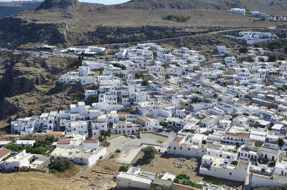 Greece, City, Summer, White