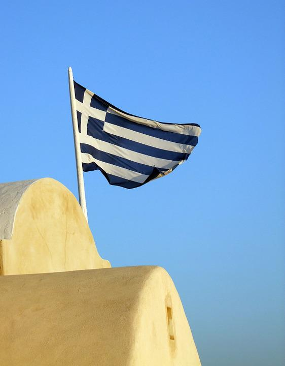 Flag, Blue, White, Greece, Flutter, Blow