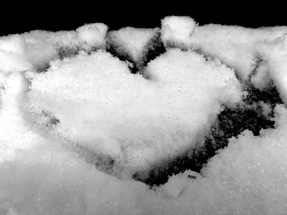 Snow, Heart, White