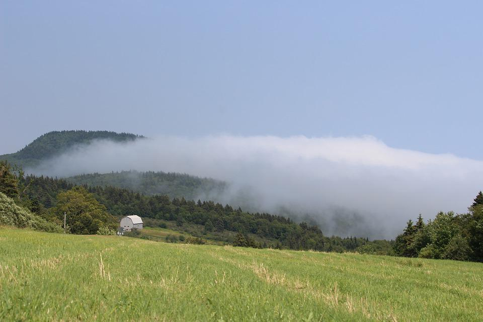 White House, Fog, Clouds, Landscape, Mountains
