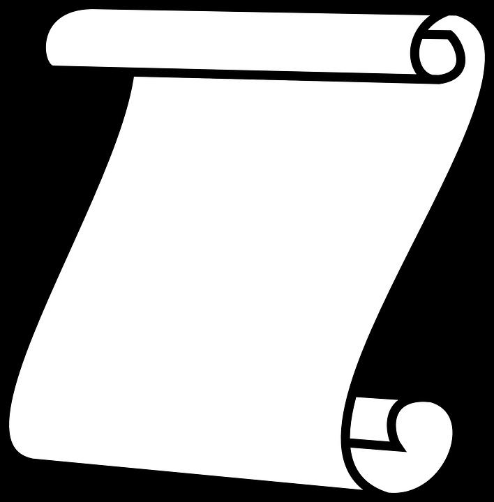 Scroll, Paper, White, Blank, Invite