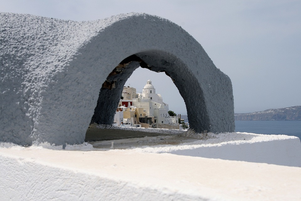 Santorini, Church, Dome, Island, White