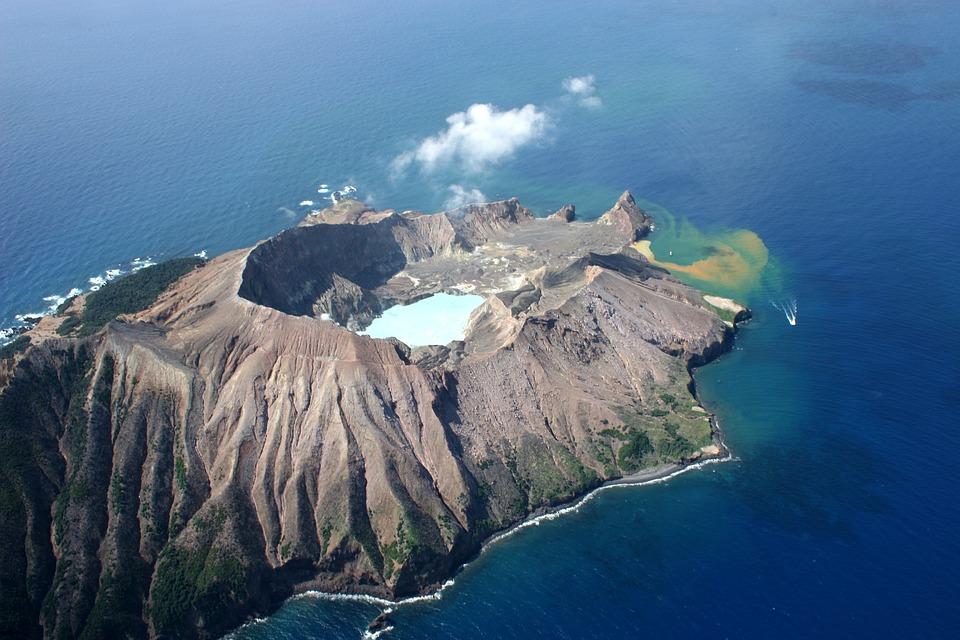 Volcano, New Zealand, White Island, Volcanic