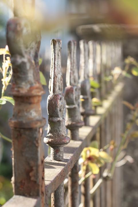 Fence, Light, Garden, White, Garden Fence, Stainless