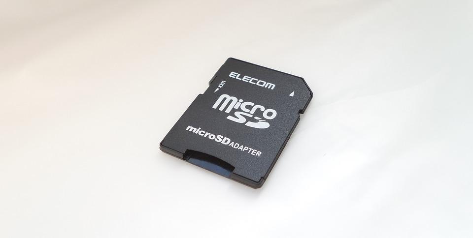 Micro, Sd, Card, Adapter, White, Background, Elecom