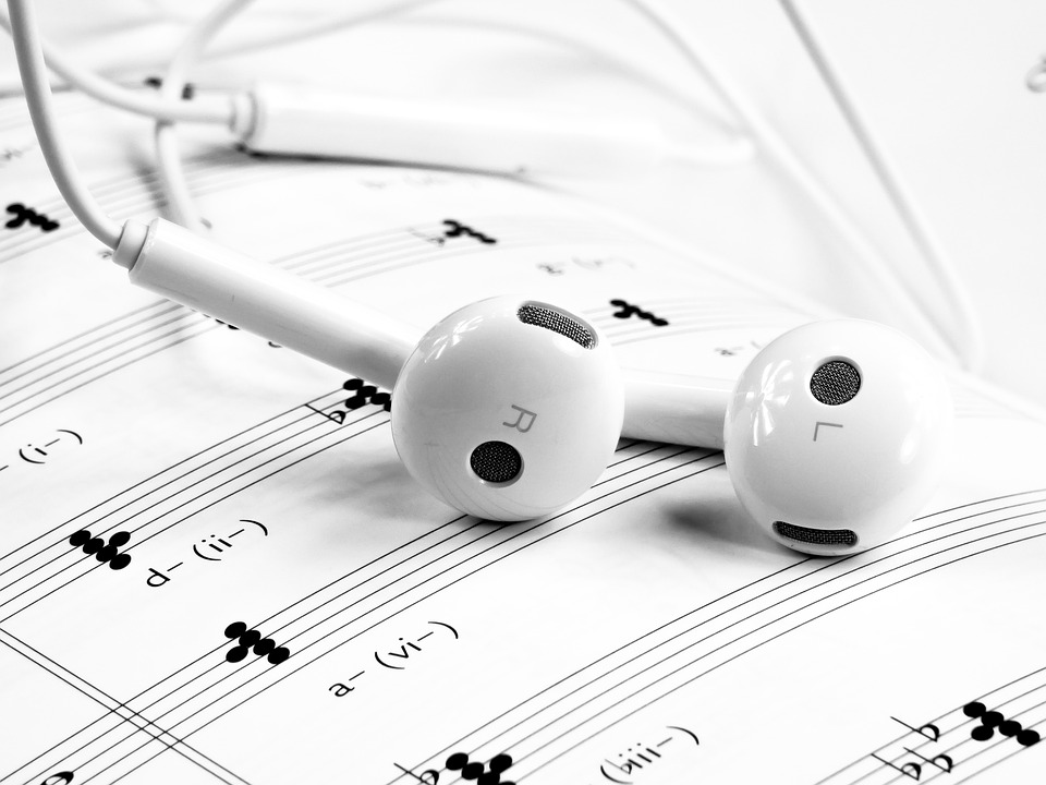 Music, Headset, White, Note, Mobile, Phone
