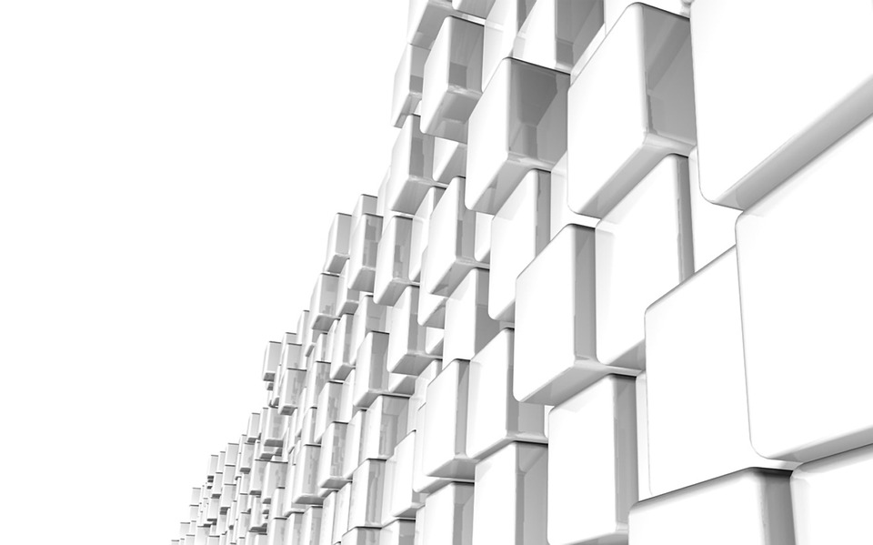 White, Background, Cubes, Architecture, Block, Module