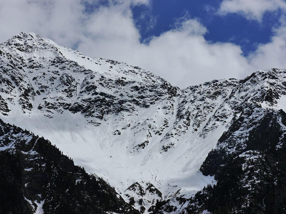 Mountains, Snow, Blue, White, Nature, Clouds Südtirol