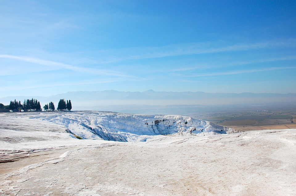 White Mountains, A Miracle Of Nature, Turkey