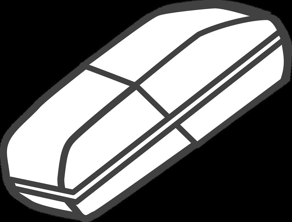 Eraser, Office, Equipment, Delete, White