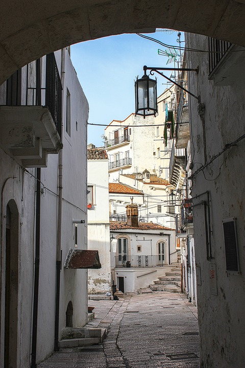 Houses, Old Village, Passage, White