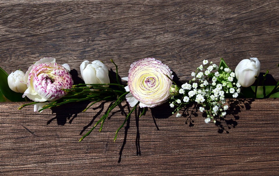 Free photo White Ranunculus Spring Flowers Bouquet Tulips - Max Pixel