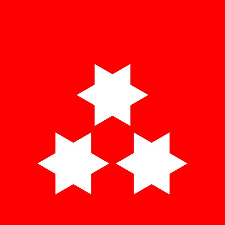 Star, Flag, Red, White, Red Stars