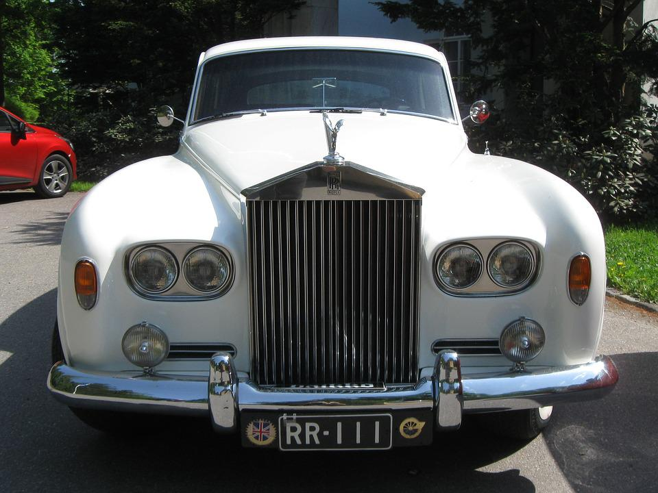 Car, Vehicle, Rolls, Royce, Style, Auto, White, Classic