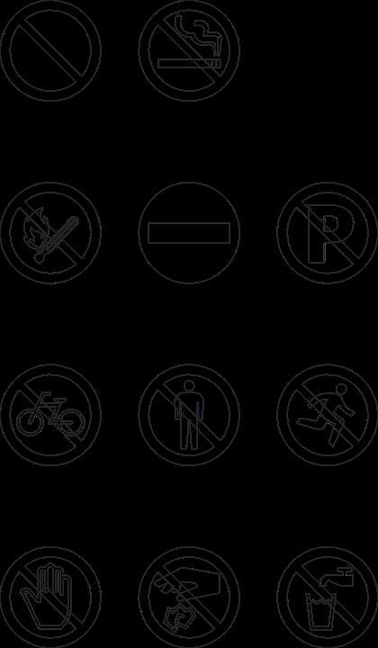 Signs, White, Smoking, Running, Smoke, Symbol