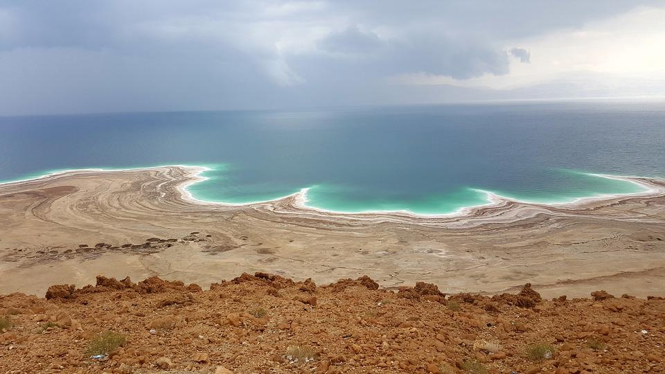 Dead Sea, Salt, White, Salty, Holiday, Middle East