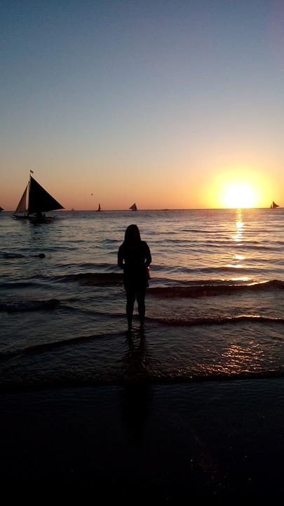 Boracay, White Sand Beach, Sunset, Philippines, Nature