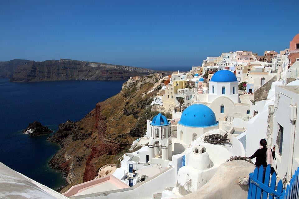 Santorini, Sea, Greece, Stairs, Home, White, Island