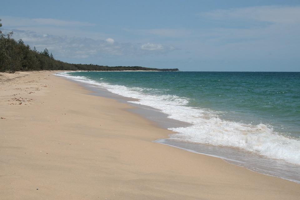Beaches, Sea, Ocean, Water, Blue, White, Waves, Sandy