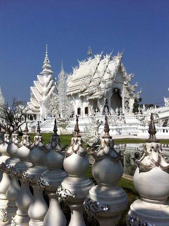 Thailand, Temple, White, White Temple