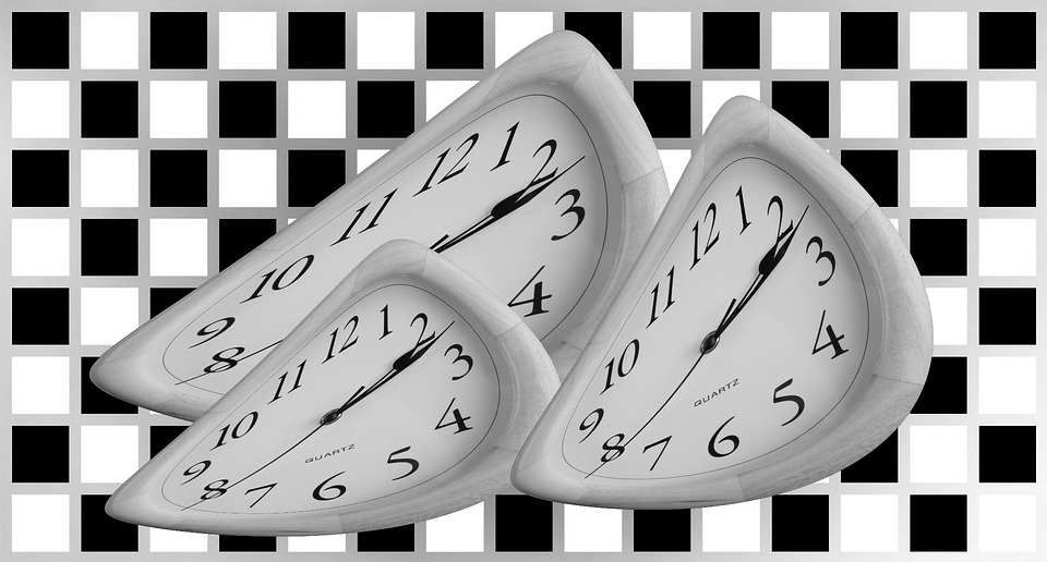 Time, Clock, Hour, Minute, Second, White, Black
