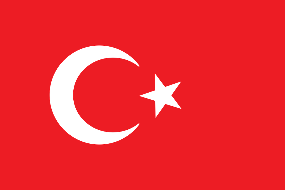 Turkish Flag, Flag, Turkey, Turkish, Red, White
