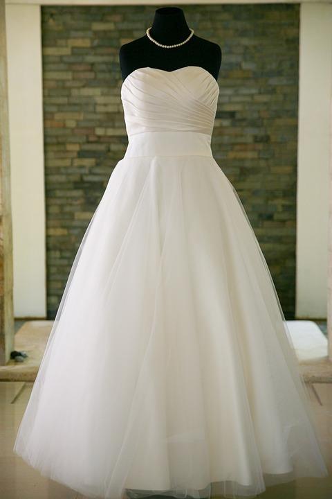 Wedding Dress, White, Marriage, Wedding, Dress