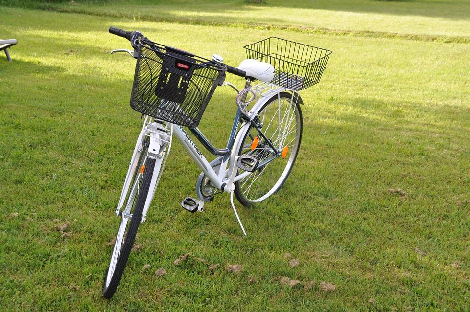 Bicycle Basket, Bike, White, Women's Bicycle