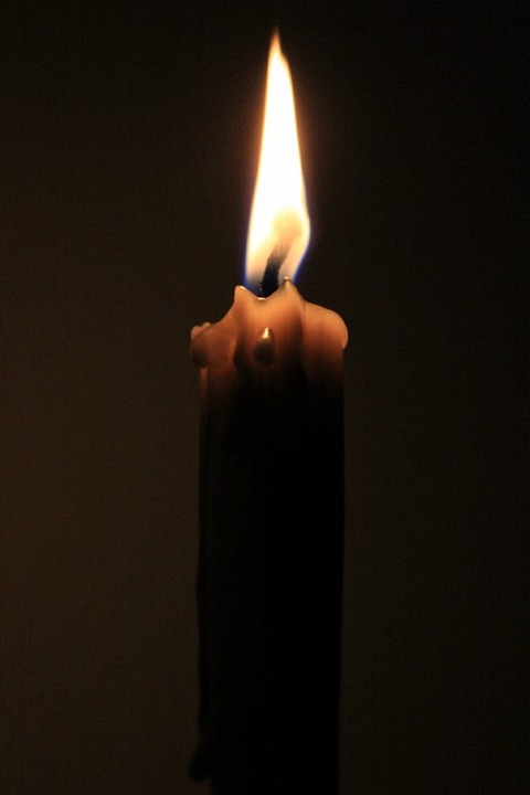 Wax Candle, Fire, Wick, Flame