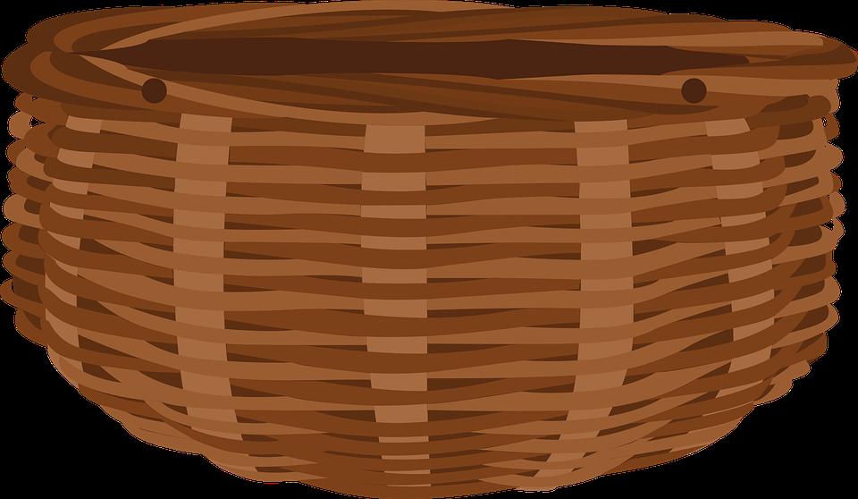 Basket, Wicker, Woven Basket, Weaved Basket