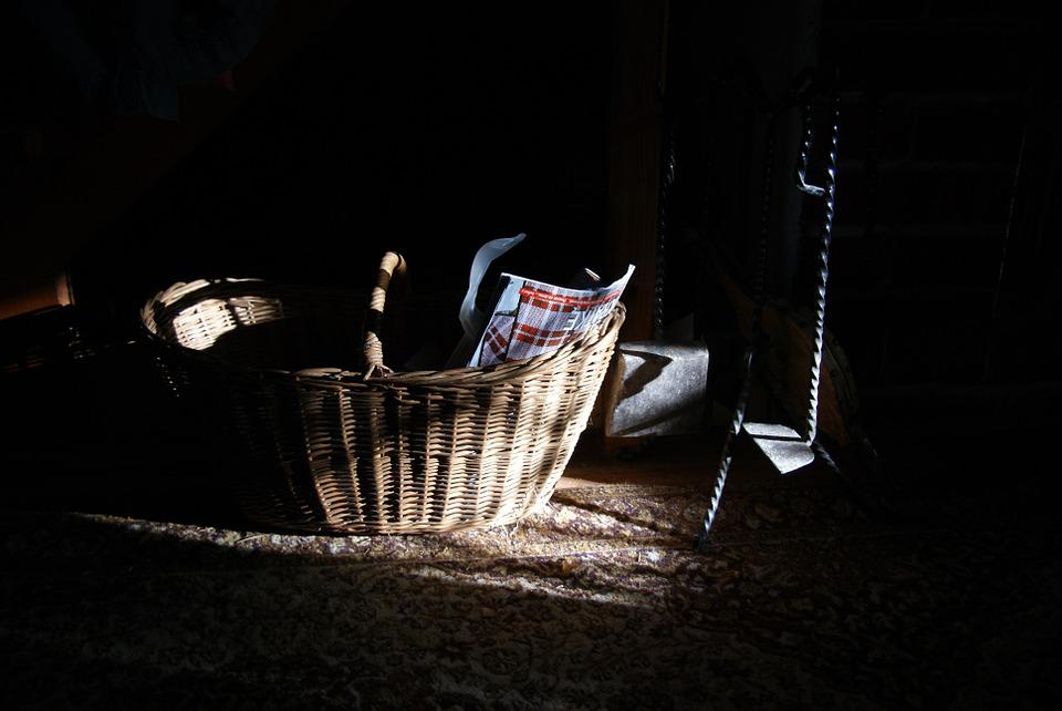 Indoors, Basket, Interior, Nobody, Domestic, Wicker