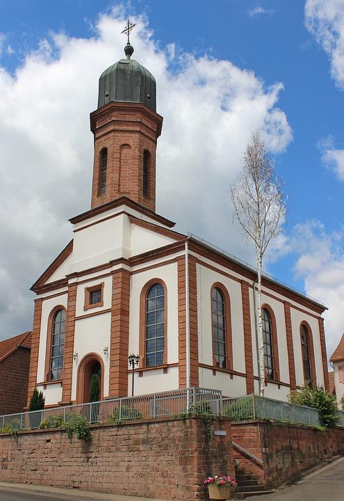 Church, Steeple, Building, Wide Weiler, Sky