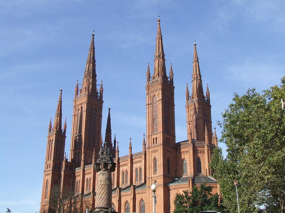 Wiesbaden, Dom, Towers