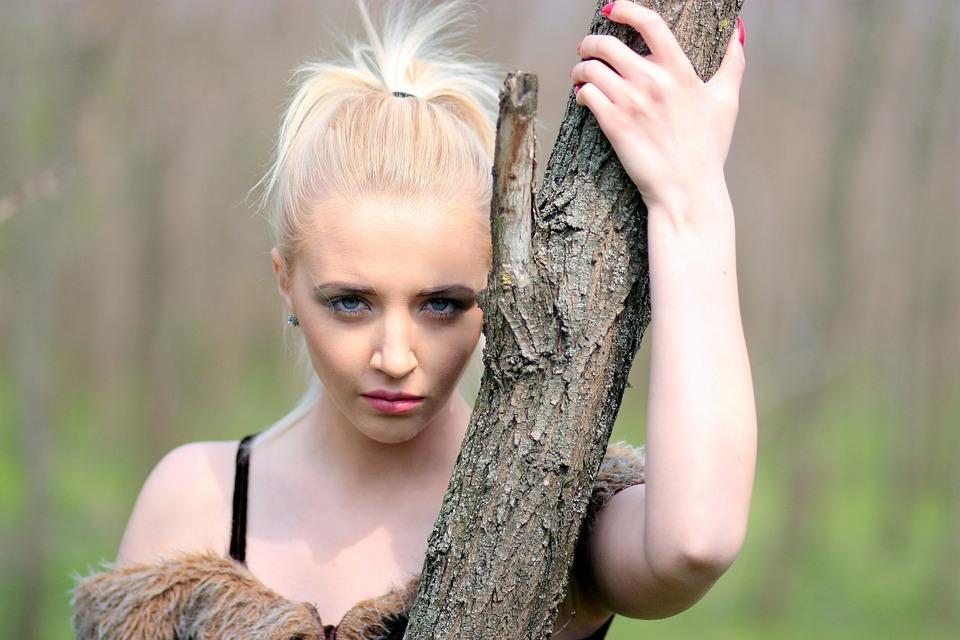 Girl, Warrior, Blonde, Wild, Forest, Beauty