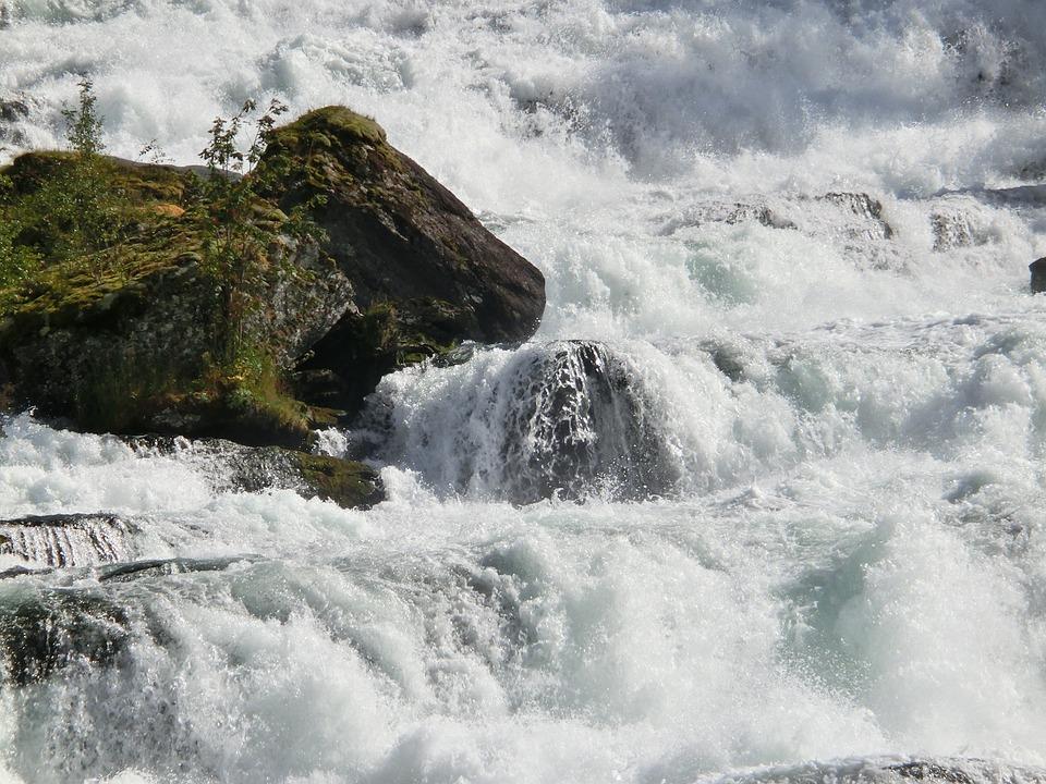 Waterfall, Stone, Cow, Wild, Roar, Murmur, Rock, Norway