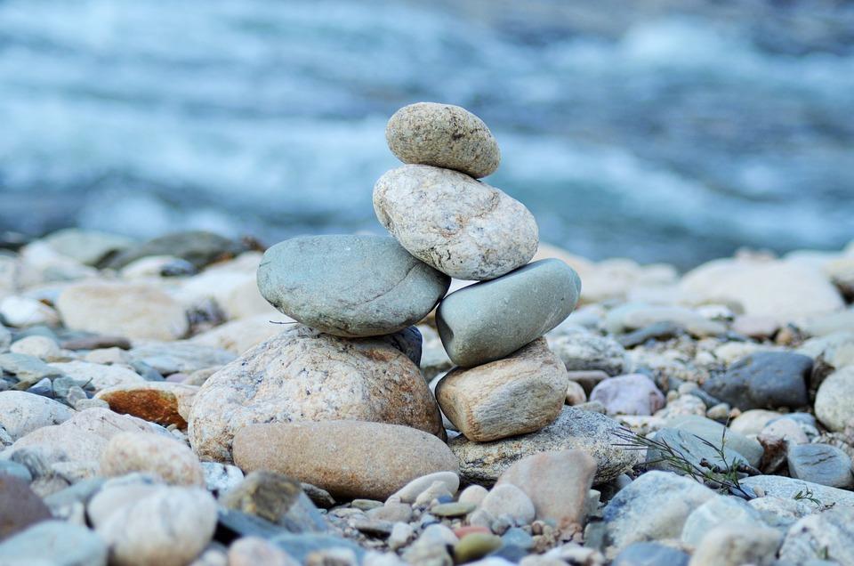 Roller, Zen, Wild, Stones, Water, Rest, Holiday