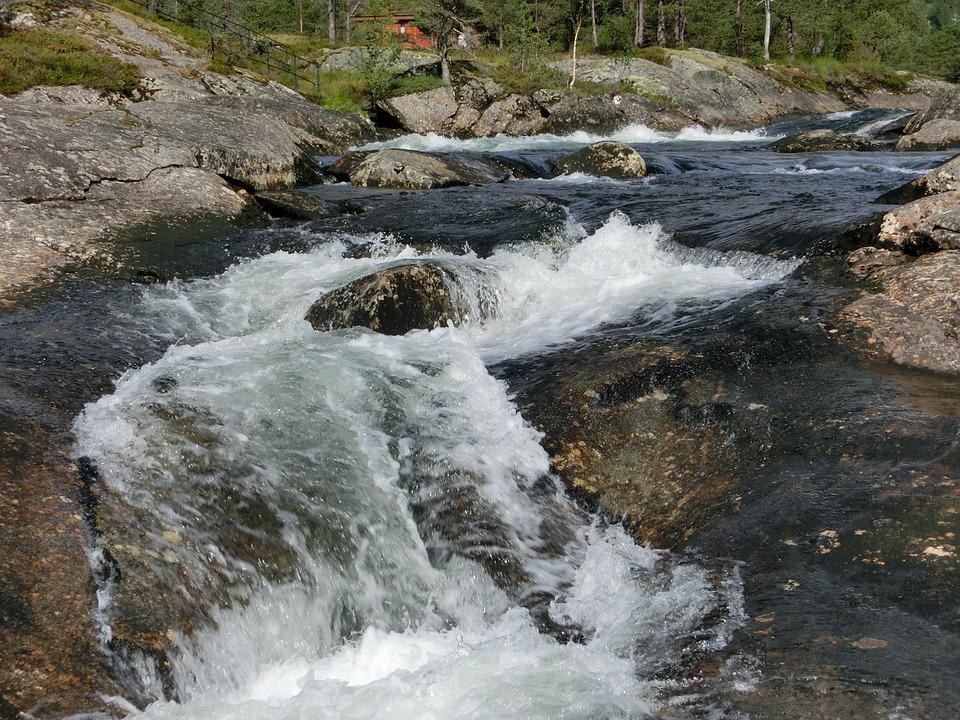 Waterfall, Heide, Nature, North, Norway, Wild